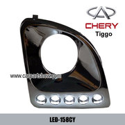 Chery Tiggo DRL LED Daytime Running Lights Car headlight parts Fog lam