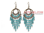 Vintage Style 4mm Turquoise Earrings