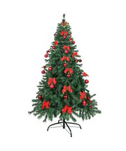 FunkyBuys Christmas tree  1.8m with Ornaments Green