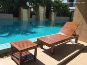The Teak Sun Bed For Decoration