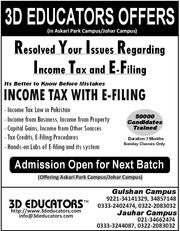 3D Educators Offers Income Tax with E-Filing