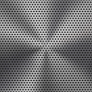 Perforated sheet metal panel (round hole)
