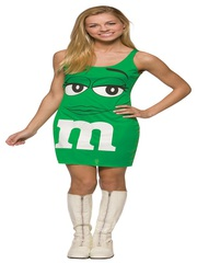 M&M Green Tank Dress Costume