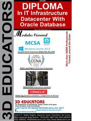 "3d Educators ""Diploma In IT Infrastructure Datacenter with Oracle Data"