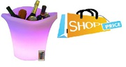 LED Ice Bucket Furniture Outdoor Weatherproof in 16 Colours with Remot