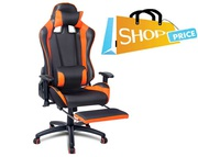 PU Leather Mesh Reclining Office Desk Gaming Executive Chair Orange