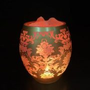 Glass Jar Lamp - European Pattern
