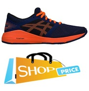 Asics Roadhawk FF (Indigo Blue/Orange/Black) - Boys