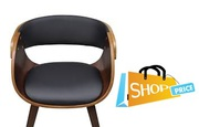 vidaXL Wooden Dining Chair Brown 1 pc