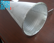 Temporary cone strainer