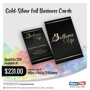 Uthara Print Australia - Gold Silver Foil Business Cards