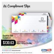Uthara Print Australia - A6 Compliment Slips (148 x 105 mm)