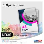 Uthara Print Australia - A3 Flyers (420 x 297 mm)