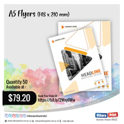 Uthara Print Australia - A5 Flyers (148 x 210 mm)