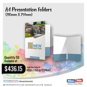 Uthara print Australia - A4 Presentation Folders (210mm X 297mm)