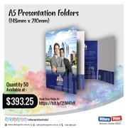 uthara Print Australia - A5 Presentation Folders (148mm x 210mm)