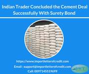 Indian Trader Signed their Deal with Surety Bond
