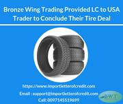 BWT Provided LC to USA Trader For Their Tire Deal
